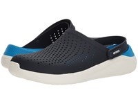 Crocs Literide Clog Navy White Shoes Blue