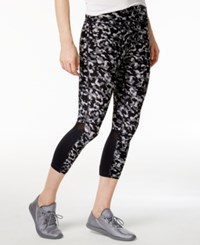 Tommy Hilfiger Sport Fusion Cropped Leggings Only At Macy's Fusion Print Black