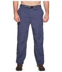 Columbia Big Tall Silver Ridge Cargo Pant Zinc Voltage Men's Casual Pants Blue