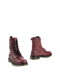 Wrangler Ankle Boots Maroon