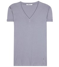Alexander Wang V Neck T Shirt Grey