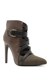 Qupid Virtue Lace Up High Heel Pump Brown