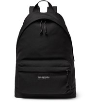 Balenciaga Explorer Nylon Backpack Black