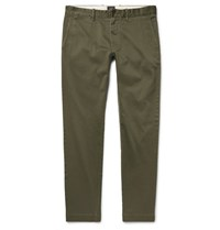J.Crew 484 Slim Fit Stretch Cotton Twill Chinos Green