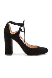 Pura Lopez Laced Ankle Heel Black