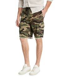 Vince Camouflage Print Cargo Shorts