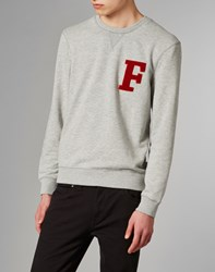 Farah Vintage Sweatshirt With Logo Grey