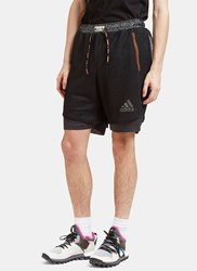 Adidas By Kolor Climachill Layered Mesh Shorts Black