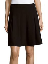 Kensie Solid Crep Skirt Black