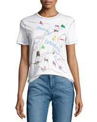 Opening Ceremony Established Short Sleeve Map Tee White