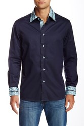 Brio Solid Long Sleeve Contemporary Fit Dress Shirt Blue