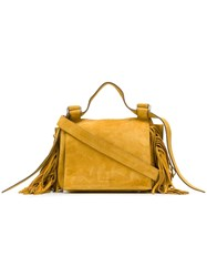 Elena Ghisellini Fringed Crossbody Bag Yellow And Orange