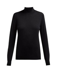 Burberry Windward Logo Intarsia Merino Sweater Black