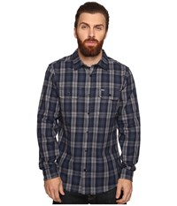 Hurley Unite Yarn Dyed Flannel Squadron Blue Men's Clothing