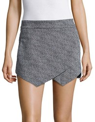Design Lab Lord And Taylor Textured Knit Skort Black White