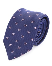 Hackett Mayfair All Over Blue And Pink Tie