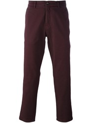 Kenzo Classic Chino Trousers Red
