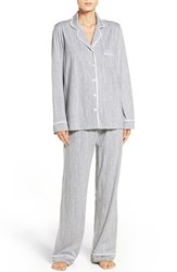 Dkny Women's Jersey Pajamas Tin Heather Stripe