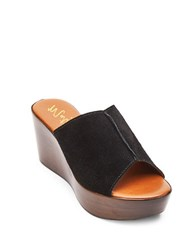 Matisse Smooth Suede Slide Sandals Black