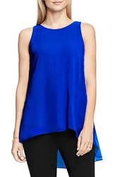 Vince Camuto Petite Women's Sleeveless Crepe High Low Top Bold Cobalt