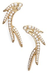 Kendra Scott Women's Daphne Earrings White Cz Gold