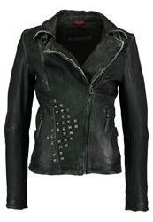 Freaky Nation Blinding Lights Leather Jacket Anthracite