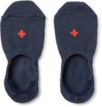 Beams Plus Cotton Blend No Show Socks Navy