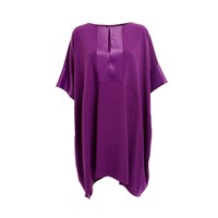 Wtr Empire Satin Crepe Tunic Purple Pink Purple