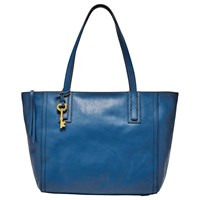 Fossil Emma Leather Tote Bag Marine