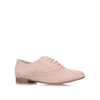 Lavender Flat Lace Up Formal Shoes Nude