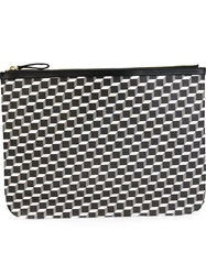 Pierre Hardy Extra Large Cube Print Pouch Black