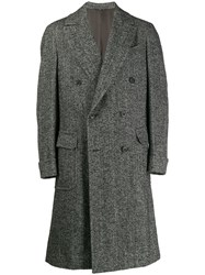 Caruso Double Breasted Coat Brown