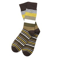 Barbour Heywood Stripe Socks One Size Olive Green