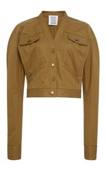 Rosie Assoulin Cotton Jacket Brown