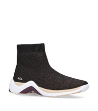 Kurt Geiger Linford Sock Sneakers Brown