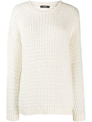 Twin Set Loose Weave Jumper White