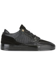 Android Homme Quilted Panel Lace Up Sneakers Black
