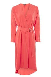 Topshop Tall Ring Wrap Dress Bright Red