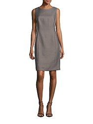 Lafayette 148 New York Carol Solid Cotton Blend Dress Grey