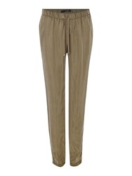 Oui Tapered Light Weight Trouser Khaki