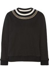 Maje Guusje Cotton Jersey Sweatshirt Black