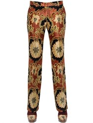 Etro Viscose Brocade Pants