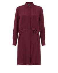 Aquascutum London Hemmingway Shirt Dress Red