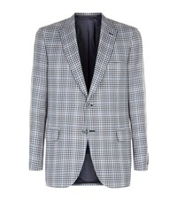 Brioni Wool And Silk Check Jacket Male Multi