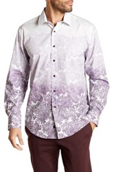 1 Like No Other Long Sleeve Woven Ombre Classic Fit Shirt Purple