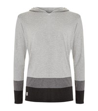Homebody Striped Lounge Hoodie Male Light Grey