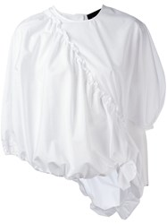 Simone Rocha Pleated Trim Blouse White