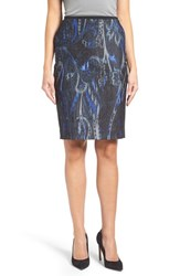 T Tahari Women's Sloanne Print Pencil Skirt