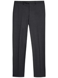 Jaeger Stretch Wool Slim Fit Trousers Grey