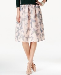 Cece By Cynthia Steffe Tulle Butterfly Print A Line Skirt Hazy Petal